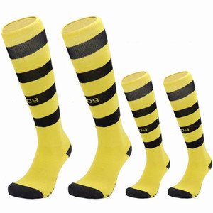 Best Selling New Arrival 19-20 Club Football Socks Men Adult Kids Towel Bottom Polyester Soccer Sport Match 22 Style Long Tube Sock