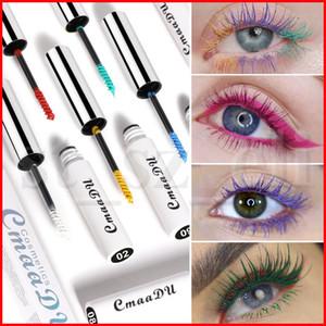 CmaaDU Mascara coloré Cils Waterproof Volume express Curling Allongement Cils Mascara 3D Pour le maquillage des yeux cosmétiques 12 couleurs