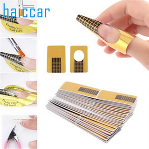 HAICAR 100 pcs Nail Form French Tips Nail Art Form Acrylic Professional Tip Gel Extension Wave For Polish Guide