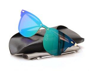 Новый повседневный дизайнер Sun Fashion Women Boxs Велоспорт Открытый для сиамского бренда Spike Mens Глазные очки Ray Cat Солнцезащитные очки Солнцезащитные очки Sungl JDST
