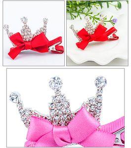 60pcs / lot DIY Einfache Multi Set Auger Kristallbohrgerät-Kronen-Haar Bowknotmädchen Princess Haarnadeln Haar Styling Werkzeuge HA1179 Clip