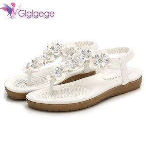 Flat New Glglgege 2018 Flowers Bohemia Large Size 36-42 Summer Sandals Comfortable Shoes Women