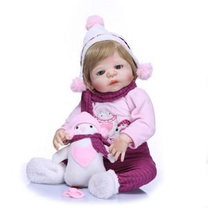 23 pouces Plein Silicone Vinyle Reborn Bébé fille Poupées De Mode Poupées Bebe Reborn Menina Filles enfants jouets CadeauBrinquedo bonecas