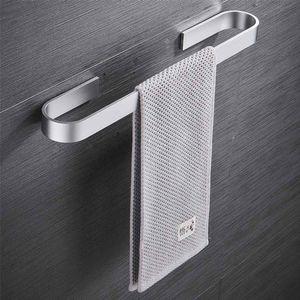 De aluminio de aleación de espacio sostenedor de la toalla montado en la pared Percha Organizador impermeable Baño Cocina de almacenamiento en rack estante Accesorios