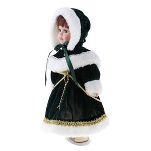 1/6 Lady Miniature Porcelain Doll victorienne chiffres avec portemanteaux en peluche Chapeau d'enfants adultes Collections