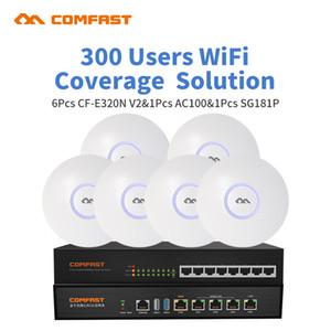 Gigabit AC Wifi balanceamento de carga Gateway Routing núcleo gateway AC100 + 8 Port Gigabit switch PoE + 6pcs multi Wan Wi fi Roaming AP