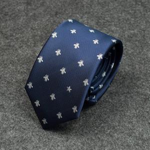 Nuevo diseñador de moda para hombre de lujo bordado de abeja corbata de color a juego salvaje empate hombres formal empate de negocios