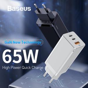 삼성 S10에 대한 샤오 미의 USB 전화 충전기 AFC 아이폰 급속 충전 3.0 Baseus의 GaN 65W 높은 전원 PD 3.0 빠른 충전기 플러스