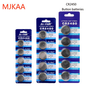 Factory wholesale 100PCS original CR2450 CR 2450 3V lithium button coin battery for watches, clock toys