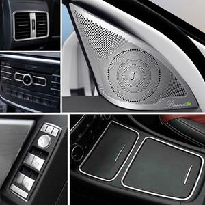Car Styling interior de la puerta de audio del altavoz del cambio de marchas panel de la puerta del reposabrazos ajuste de la cubierta para el parachoques para Mercedes-Benz Clase A W176 GLA X156 Accesorios