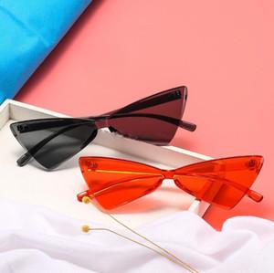 Moda Feminina Cat Eye Óculos De Sol One piece Arco Óculos de Sol Das Senhoras Doce Cor Óculos De Sol Retro Óculos Feminino Eyewear 11 Cores escolher