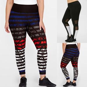 Повседневные женские лоскутные леггинсы 2018 новый тренажерный зал тренировки Фитнес леггинсы брюки сетки лоскутное цветочные спортивные брюки плюс L-3XL