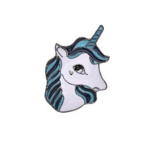 Luxus frauen Brosche Tier Pferd einhorn Emaille Pins Broschen Abzeichen Kragen Kleider Pflanze rooch Schmuck b503
