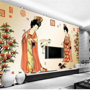 formato personalizzato 3d foto wallpaper soggiorno murale cinese antico palazzo bellezza 3d immagine divano TV sfondo carta da parati non tessuto wall sticker