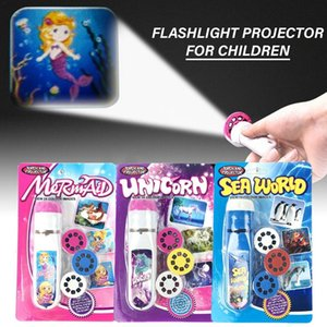 Toys Luminous Projection Flashlight Kids Action Figure LED Lights Electric Glow In The Dark Funny Rave Education Toys For Child