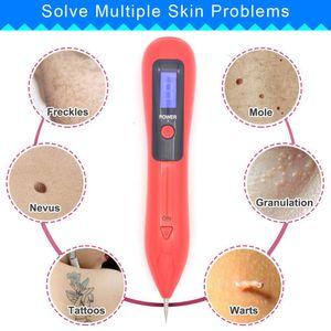 Remoção Mole Pen Wart Plasma Laser removedor ferramenta de beleza Cuidados com a pele milho Sarda Tag Nevo Dark Age Mancha tatuagem elétrica Conjunto de Dispositivos
