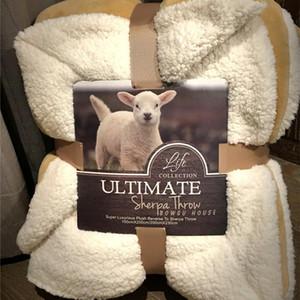 Bajo perfil Camel'S Pure Lamb Wool Cálido Throw Throw Blanket Coverlet Reversible Fuzzy Microfiber All Season Para cama o sofá Soft