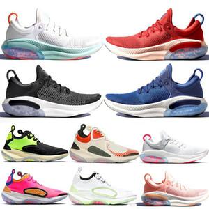 Nike Joyride Run Flyknit الاحذية سياقة المتعة للرجال البلاتين جامعة تينت الأحمر المتسابق الأزرق الأساسية الأسود أزياء الرجال ومدرب رياضي الرياضة رياضة حجم