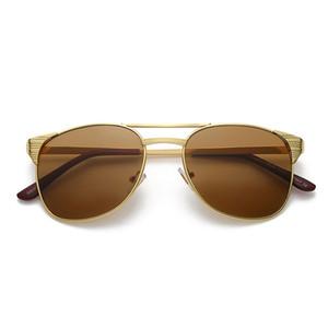 Top qualidade da lente de vidro polarizado piloto clássico óculos de sol das mulheres dos homens férias moda óculos de sol com casos gratuitos e acessórios 3429