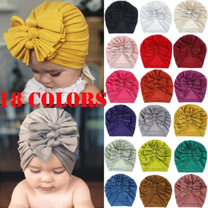 Fashion Baby Toddler Girls Kids Solid Cotton 3 Bow Knot Turban Headband Hair Band Headwrap