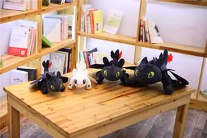 2019 35 cm, 45 cm, 60 cm ejderha ustası animasyon filmi karikatür görüntü peluş oyuncak beyaz ejderha dişsiz çocuk hediye