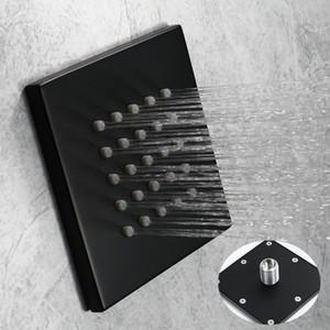 4 inch shower head wall mounted bathroom shower rain body jets massage hotel modern black surface