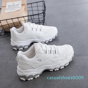 Ake Sia femenino ocasional de las mujeres cómodo Mujer Señora cordones de las zapatillas Chaussure Espesar Soled Waddle ocio zapatos para caminar c09