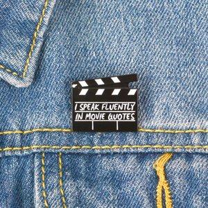 Movie Set Schindel Emaille Pin ich fließend in Filmzitate sprechen Broschen-Beutel-Kleidung-Revers-Brosche Abzeichen Schmuck-Geschenk für Freunde