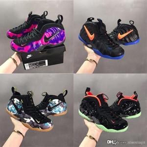Yeni erkek Anfernee kuruş hardaway basketbol ayakkabıları 17s lebron 2019 Kamuflaj Ordu Mor Siyah Knicks kutusu ile bir pro üredi spor ayakkabıları botlar köpükler