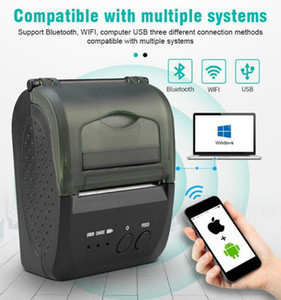 50pcs 58mm Thermal Portable Printer 5809D Wireless Bluetooth 4.0 Support Android and iOS Windows Office Store EU US UK DHL Free Shipping