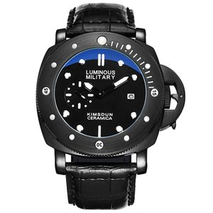 KIMSDUN grand cadran Quartz Sport Montre Homme Waterproof Army lumineux montre-bracelet homme horloge Homme homme Montre