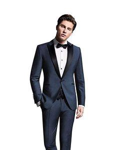 Completo da uomo in cotone 3 pezzi Tux Vest Suit Suit Suit per la cerimonia nuziale