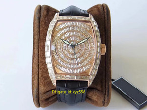New Shiny Luxury Diamond Herrenuhr Stable 2824 Automatic Movement Armbanduhr Lederband Top-Qualität Männlich Schweizer Uhren