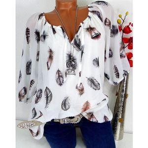 Cotone sciolto a maniche lunghe casuale camicetta di Hirigin donne nuovo modo tunica parti superiori camicetta