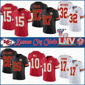 15 Патрик Магомес Kansas City SUPER BOWL LIV Chief Football jerseys 87 Трэвис Келс 32 Тиранн Матье 26 Дэмиен Уильямс 10 Хилл 17 Хардман
