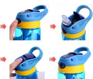 Bouteille d'eau 16 oz Enfants Gobelet VERRES BPA étanche large bouteille bouche avec couvercle flip Leak Etanche Coupes 4colors GGA3235