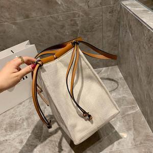 Tasarımcı-çanta Loevy tuval malzeme çanta kadın moda kılıf çanta çanta yüksek kaliteli alışveriş çanta çanta
