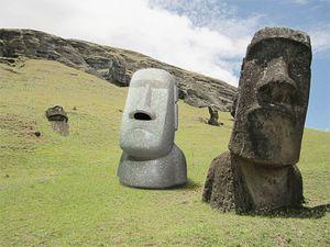 Kağıt havlu kutusu Paskalya Adası taş portre Mendil Yaratıcı Moai yüz şekli doku tutucu Moai reçine üç boyutlu peçete kutusu A07