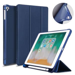 ipad silicone anti-fall utility case 9.7 silicone anti-fall transparent ipad pen slot protection case 2018 soft case 10.2