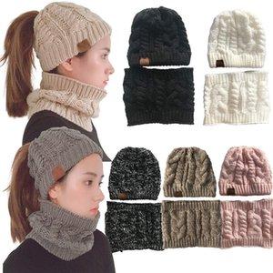 2-adet Kış Beanie Hat Eşarp Seti Sıcak Bere Kalın Fleece Kış Şapka Eşarp Skullies Bonnet İçin Erkekler Kadınlar Çizgili