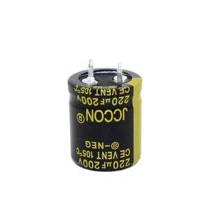 JCCON horn aluminum electrolytic capacitor 200v220uf volume 22x25 Inverter power