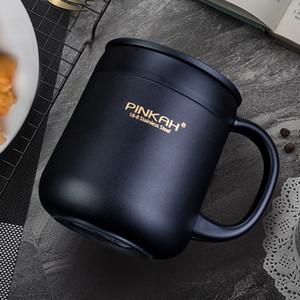 400ML 304 acciaio inossidabile Thermos tazze Ufficio tazza di caffè con manico con coperchio isolato tazza di tè Thermos Cup ufficio Thermos