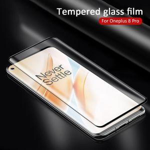 3D curvo bordo vetro temperato per OnePlus 8 schermo a prova di esplosione protezione in vetro per One Plus 1+ 8 Pro anteriore Film