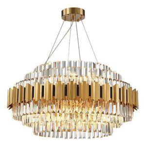 cristallo moderno lampadario camera da letto della lampada in acciaio inox studio modello di camera un'atmosfera di lusso, soggiorno lungo ristorante AC 90-264V