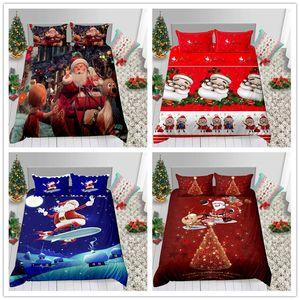Conjunto de cama romântico presente de natal para crianças criança com lençol capa de edredon travesseiro vermelho branco preto de edredon capa conjunto 2019 novo