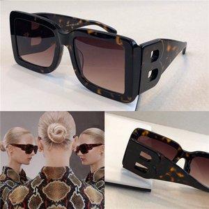 New óculos de sol design de metal 4312 quadrado quadro grande carta retro óculos B estilo de moda moldura quadrada UV 400 lente
