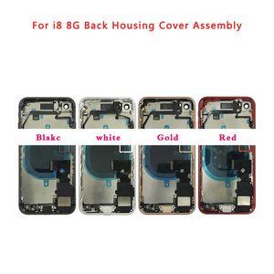 Carcaça Completa para o IPhone 8 8 Plus Plus 8G de Volta Moldura Intermediária Do Chassi Porta Da Bateria Tampa Traseira Do Corpo com Cabo Flex Peças de Montagem
