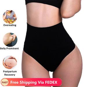 Seamless cintura alta G-String Hips Corpo Shapers Ladies Underwear Thong cintura instrutor pós-parto Tummy Shapewear Abdomen Corset