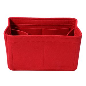 New Home Storage Bag Felt Insert Bag Makeup Organizer Inner Purse Portable Cosmetic Bags Storage Red Storage S