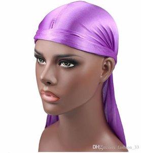 Hot Fashion Men Satin Durags Bandanna Turban Wigs Pirate Hat Men Silky Durag Headwear Headband DLH385
